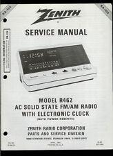 Zenith R98 FM//AM Radio Cassette Boom Box Rare Orig Factory Service Manual