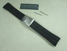 Genuine Citizen CB0020-09E watch band black rubber deployment buckle + pins