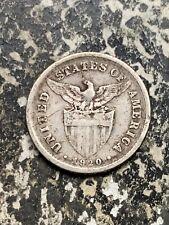 1920 U.S. Philippines 20 Centavos Lot#Z8260 Silver!