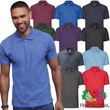 Fruit of the Loom 65/35 Polo Shirts Mens Plain Tee T Shirt | All Colours | S-5XL