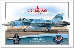 "F/A-18C ""Hornet"" -VFC-12- Fighting Omars - Airplane Poster Profile"