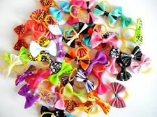 10pieces /lot Cute Small Pet Cat Dog Hair Bows Rubber Bands Grooming Accessories