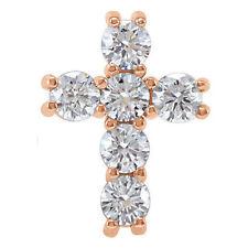 Cruz Diamante 45.7cm Collar en 14k oro rosa ( 1/2 Ct. TW