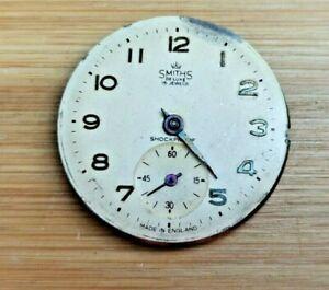 Vintage Smiths De Luxe 15 Jewels Shockproof Mens Watch Movement, Good Balance