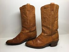 VTG MENS TEXAS COWBOY BROWN BOOTS SIZE 9 D