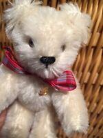 Kleiner weißer Mohair Bär von GRISLY, Teddybär, 15cm, unbespielt