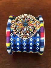 womens boho cuff bracelet fashion jewels metal fabric multicolor brand new