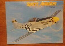 Sport Aviation Magazine, July 1994 homebuilt racing Jim Stewart's S-51 Jack Cox