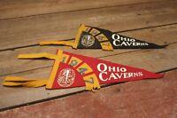 VINTAGE 1947 OHIO CAVERNS FELT PENNANTS