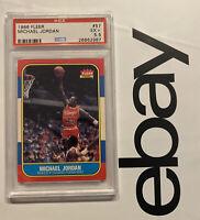 Michael Jordan ROOKIE PSA 5.5 Fleer 1986 INFLATION HEDGE #57 UnderGraded? GIFT