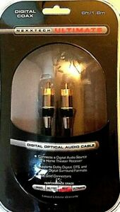 NEXXTECH Ultimate DIGITAL COAXIAL AUDIO CABLE 6ft / 1.8m