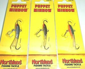 Northland Tackle 5/16 Puppet Minnow Darter Jigs (Lot of 3-Great Colors)