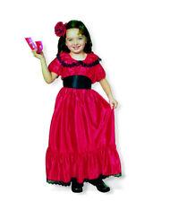 Spanierin Flamenco Tänzerin Kostüm für Mädchen Gr. 116 - Kinder Fasching Kleid