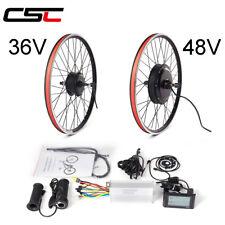 36V 48V Electric bike Conversion Kit 250W-1500W bicycle Motor Wheel 20-29in