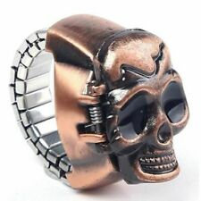 Gift Man Unisex Elastic Skull Party Clamshell Finger Ring Design Watch