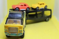 Tonka Toys Pressed Steel Car Transporter and 2 Volkswagen Beetle Cars