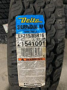 1 New LT 215 85 16 LRE 10 Ply Delta Sierradial A/P Tire
