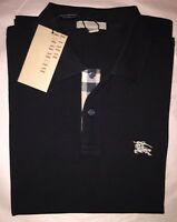 Burberry Brit Men's Check Placket Polo Shirt Black S , M, L, XL, XXL, XXXL 3XL