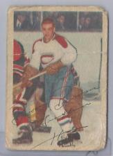 1953-54 Parkhurst Hockey Boom Boom Geoffrion Card # 29 Poor To Fair Condition