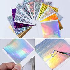 12 Sheets Holo 3D Nail Sticker Stripe Adhesive Ultra Thin Nail Foils Born Pretty