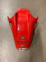 HONDA CBR 600 F2 CBR600 600F2 RED FRONT FENDER MUD GUARD PLASTIC 91 92 93 94