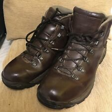 Hi-Tec Scarfell Mens Hiking/ Walking Boots In Brown Leather Size 12UK