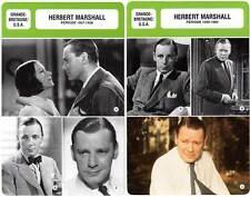 FICHE CINEMA x2 : HERBERT MARSHALL DE 1927 A 1965 -  Grande-Bretagne (Bio/Filmo)