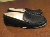 TOD'S Women's Size 5.5 Black Leather Slip-On Driving Loafers Moccasins Flats