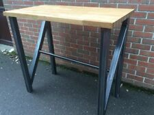 STEEL DINING TABLE BREAKFAST BAR BESPOKE DESIGNER MADE TO ORDER - THE BRANDO