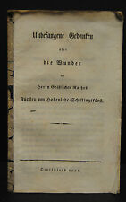 Gedanken über die Wunder des Fürsten Hohenlohe-Schillingsfürst - 1821