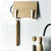 Kitchen rack wall-mounted cutting board pot cover rack wall perforated