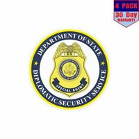 USA Diplomatic Security Service Seal 4 pack 4x4 Inch Sticker Decal