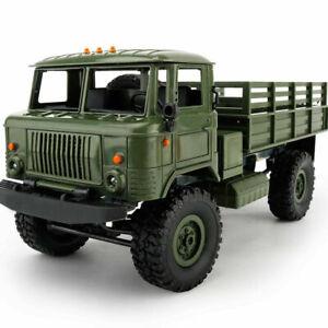 B24 Green RC Military GAZ Kit 4WD 1/16 Offroad Truck Crawler Car Toy Kid DIY