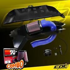 For 12-16 BMW 328i F30/F31 Sedan/Wagon 2.0L Blue Cold Air Intake + K&N Filter