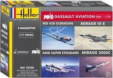 Heller 52320 - 1:72 Coffret 100 ANS Dassault Aviation - Neu