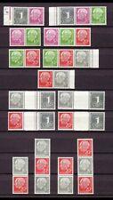 GERMANY FEDERAL REPUBLIC HEUSS SE-TENANTS W17 II-S52Y II 735€ = $960 PERFECT MNN