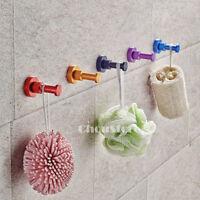 Colorful Bathroom Robe Hook DIY House Wall Hooks Wall Door Mounted Single Hanger