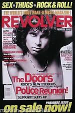 The Doors Jim Morrison 2000 Revolver Magazine Cover Original Promo Poster