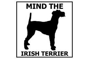 Mind the Irish Terrier - Gate/Door Ceramic Tile Sign