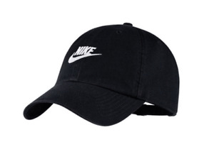 Nike Aerobill Heritage 86 Futura Washed Cap Hat Headwear Black NWT 913011-010