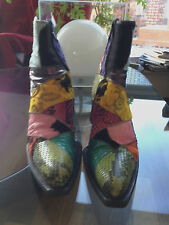 NEW FABULOUS FREELANCE ANKLE BOOTS - Multicolor and unique