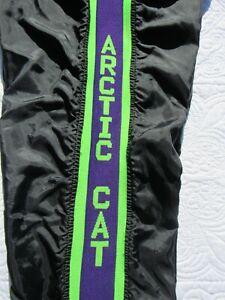 Vintage Arctic Cat Snowmobile Arcticwear Knit / Nylon Pants UNISEX  Sz L