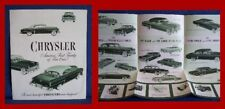 1953 CHRYSLER Automobile Green-tone Sales Brochure