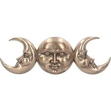 Triple Moon Bronze Effect 38cm Wall Hanging Plaque Room Decoration Pagan Wiccan