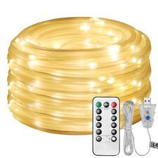 10M 100 LEDs USB Lichtschlauch Lichterschlauch Lichterkette mit Fernbedienung