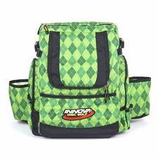 Innova HeroPack Disc Golf Backpack/Bag, 20-30 Disc Storage, Green Argyle, New