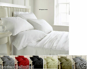 200 Thread Count 100% Egyptian Cotton 4 PCS Complete Bed Sheet Set OR Individual