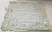 BEAUTIFUL ANTIQUE 19TH C. ALENCON LACE WEDDING HANKY TT311