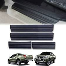MATTE MATT BLACK DOOR STEP SCUFF PLATE FOR MITSUBISHI TRITON L200 MN ML 15 16 17