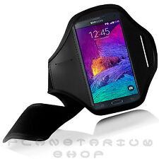 NEW BLACK SPORTS ARMBAND COVER FOR SAMSUNG GALAXY NOTE 4 IV N910 GYM JOGGING KEY
